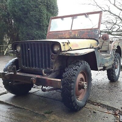 Willys jeep 1943 Ford GPW WW2 jeep classic car military vehicle barn find