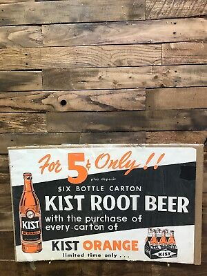 Kist Root Beer, Soda, Advertizing, Vintage, Collectable, Sign
