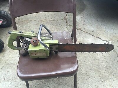 Vintage Olson Rice  Orline Gasoline Chainsaw. Tiny Tiger Generator