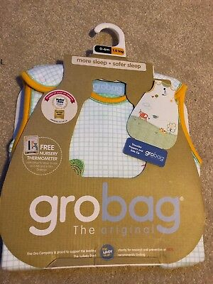 BNWT unisex baby sleeping bag by Grobag in size 0-6 months, approx 1.0 tog