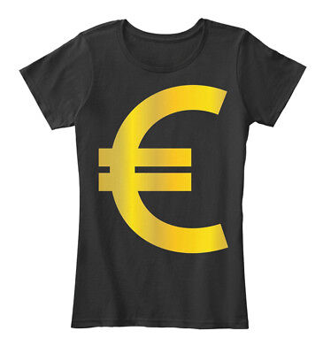 Euro Sign T Gold Europe Currency Symbol Money Cash Women's Premium Tee T-Shirt