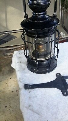 Vintage Nautical Large Lantern Perko? Brass excellent condition works well.