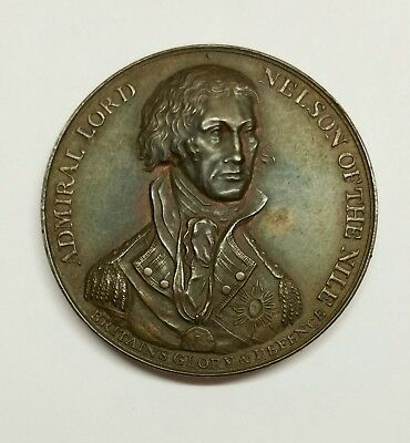 Original Antique 1798 ADMIRAL NELSON NILE MEDAL - Royal Navy