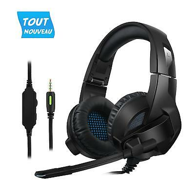 Cocopa Casque Gaming, Casque Gamer Filaire avec Micro PS4/PSP Xbox one PC Jeux