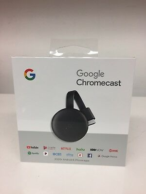 Google Chromecast 3rd Gen Digital HDMI Media Streaming Device