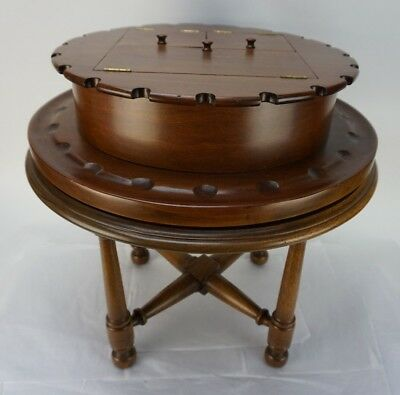 Vintage Rotating Pipe Smoking Table