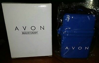 AVON Blue Beach Caddy Valuables Case NWT - 2003 Gift Collection - NEW in Box