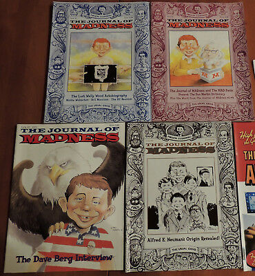 The Journal of MADness #11, 12, 13, 14 MAD Magazine and Alfred E. Neuman fanzine