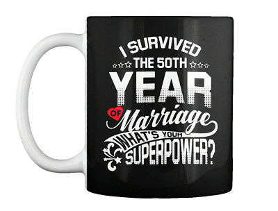 Anniversary 50th 50 Years Wedding Marriage - I Survived The Year Gift Coffee Mug