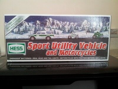 2004 Hess 40th Anniversary Truck Sport Utility Vehicle & Motorcycles NEW in box