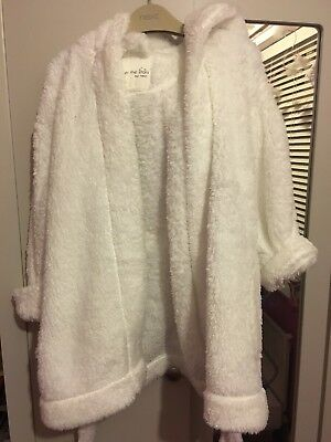 Next White Dressing Gown Aged 2-3