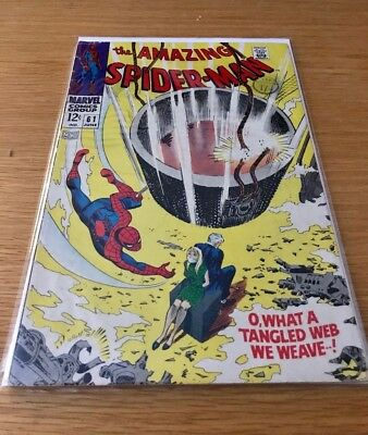 Marvel Amazing Spiderman #61 VG 1st Gwen Stacy cover app. 06/68