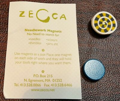 Zecca Needle Minder Magnet Holds Needle, Scissors Etc In Place  Embroidery Craft