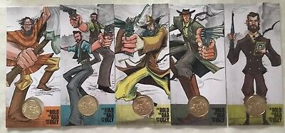 The Bold The Bad And The Ugly 2019 $1 - Set Of 5 Carded Holders.
