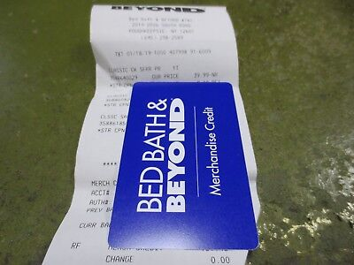 BED BATH & BEYOND GIFT CARD $131.46, ON CARD Free Shipping