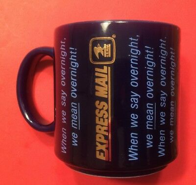 EXPRESS MAIL United States Post Office Coffee Cup Mug Vintage Overnight USPS