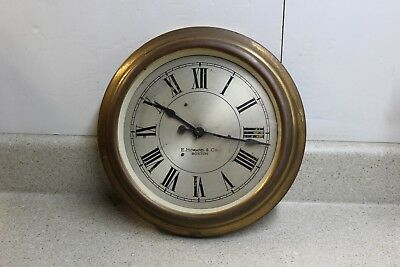 11 inch Brass E. Howard Slave Clock For Restoration or Parts