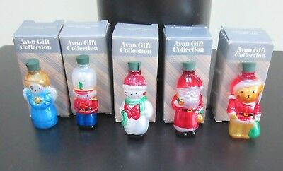 Lot Of 8 Vintage AVON Christmas Glass Light Covers  In Boxes