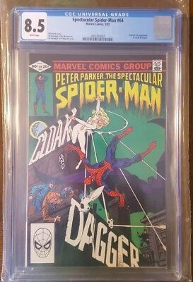The Spectacular Spider-Man #64 CGC 8.5 First Appearance of Cloak & Dagger Marvel