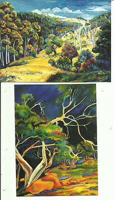 "Two Australia Art Postcards, ""Killarney"" & ""Before the Storm"", by Narelle Pitkin"