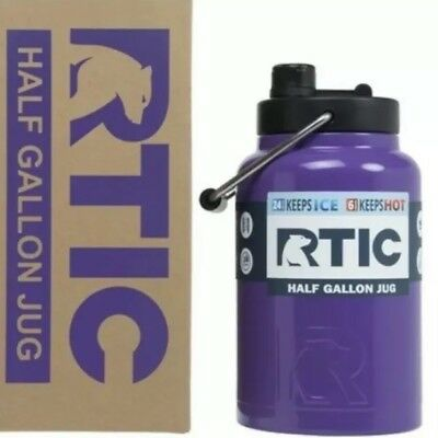 RTIC® 1 Gallon Purple Water Jug Bottle Insulated Stainless Steel Tumbler Rambler