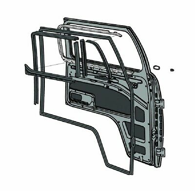 Cab Door Seal Kit (Alternative Quality) Nearside (Left) VW T2 (Opening Qtr Light