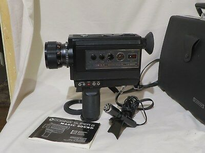 Cosina sound Super8 Good working order excel + cond film camera made in japan