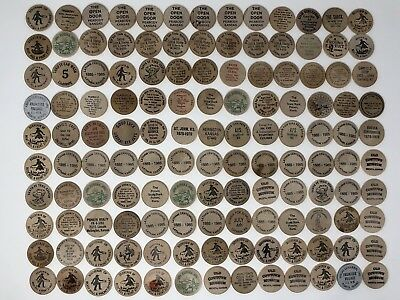 Lot of 130 Vintage Wooden Buffalo Nickels All From Kansas