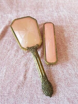 Vintage Vanity/dressing Table Pair - Of Brushes.made In England. Nylon.