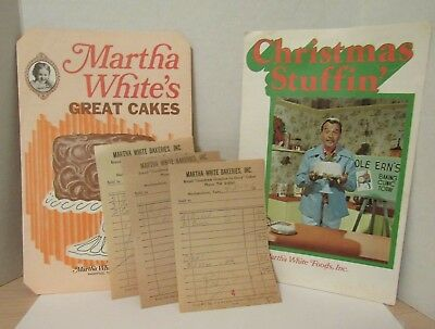 Vintage MARTHA WHITE FOODS, INC Recipe Booklets & Bakerie Receipts Tennessee