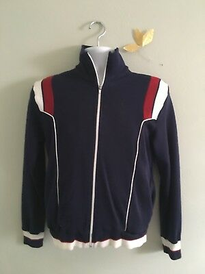 Mens Vintage Main Event Small Track Suit Red/White/Blue 100% Triple Knit Acrylic