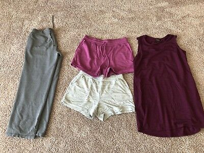 Bundle Lot of 4 Women's Comfy Active wear Pajama clothes Size L and one M