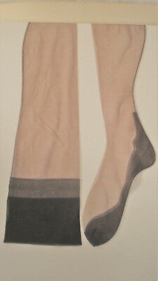 "Vintage  Nylon Seamless Stockings. Foot 10"". Pr-Owned.  Original. 1  pair."