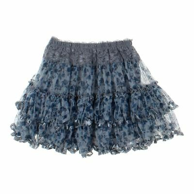 aa6f77392b4e WOMEN S RACHEL   Chloe Blue-Green Tiered Ruffle Skirt M L -  23.00 ...