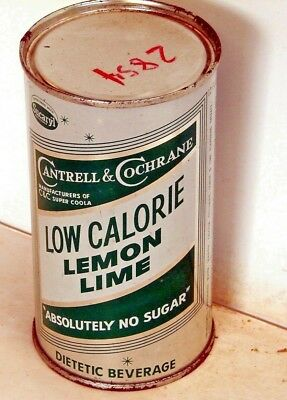 Cantrell & Cochrane Low Calorie Lemon Lime; Solid Top Steel Soda Pop Can