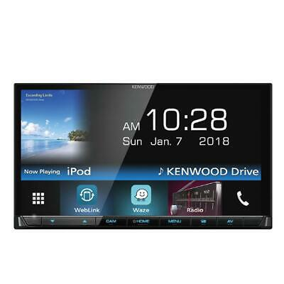 "Kenwood DMX7018BT 7""WVGA Touchscreen Waze Nav-App/ USB/ Bluetooth Player (No CD)"