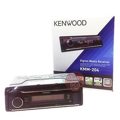 Kenwood KMM-204 Car Digital Media Receiver Single-Din Front AUX/USB