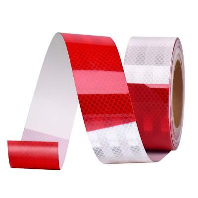 """2""""X100' DOT-C2 Premium Reflective Red And White Conspicuity Tape Trailer 1 Roll"""