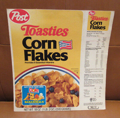 Post Toasties Corn Flakes Dole Bananimals Offer on Cereal Box
