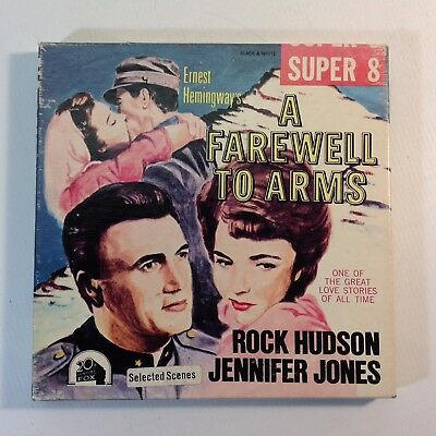 "Vintage 8mm Super 8 B & W Movie ""A Farewell To Arms"" Rock Hudson"
