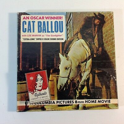 "Vintage 8mm Super 8 B & W Movie ""Cat Ballou"" Lee Marvin"
