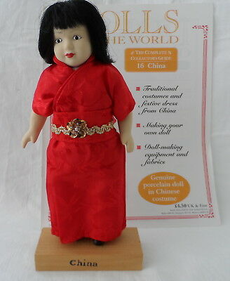 Dolls Of The World , China Doll And Book 16