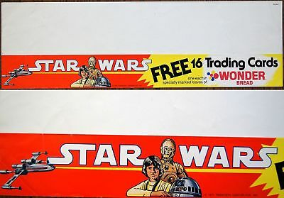 US Wonder Bread ~STAR WARS~ 1977 Free Trading Cards Campaign Promo Poster RARE!!