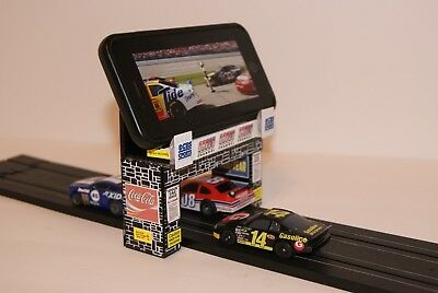 UNIQUE  Slot Car Scenery COOL CELL PHONE HOLDER spans 1 LANE, add your PHONE !!