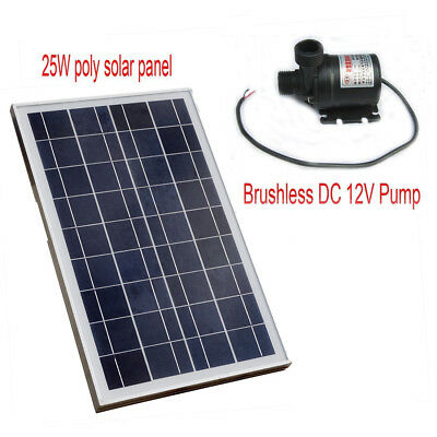12V Hot Water Circulation DC Pump & 25W Solar Panel Hot Water System New