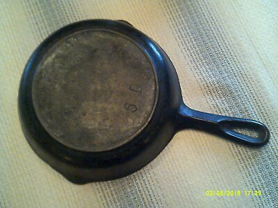 vintage  BSR # 5 D red mountain series cast iron sillet heat ring 1930s-40s