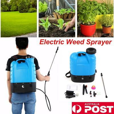 16L Garden Weed Sprayer Electric 12V Battery Backpack Portable Spot Spray Farm