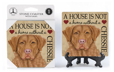 Chesapeake Bay Retriever A House Is Not A Home Dog Drink Coaster
