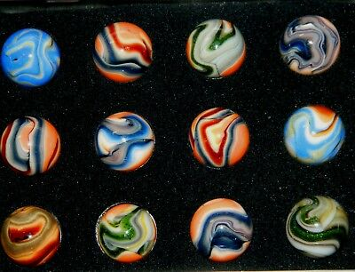 """Jabo: Marley   Tin Of 12    Approx 3/4"""" Marbles   10/14/08"""