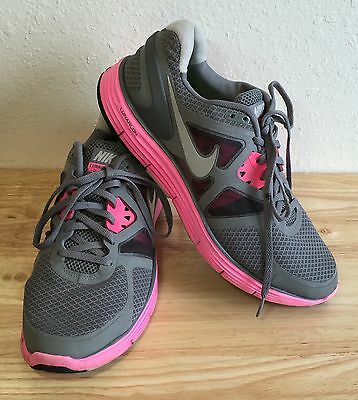 7a0dbc66d5a25 NIKE LUNARGLIDE+ 3 Lunarlon Running Shoes Trainers Sneakers Womens 11 Gray  Pink